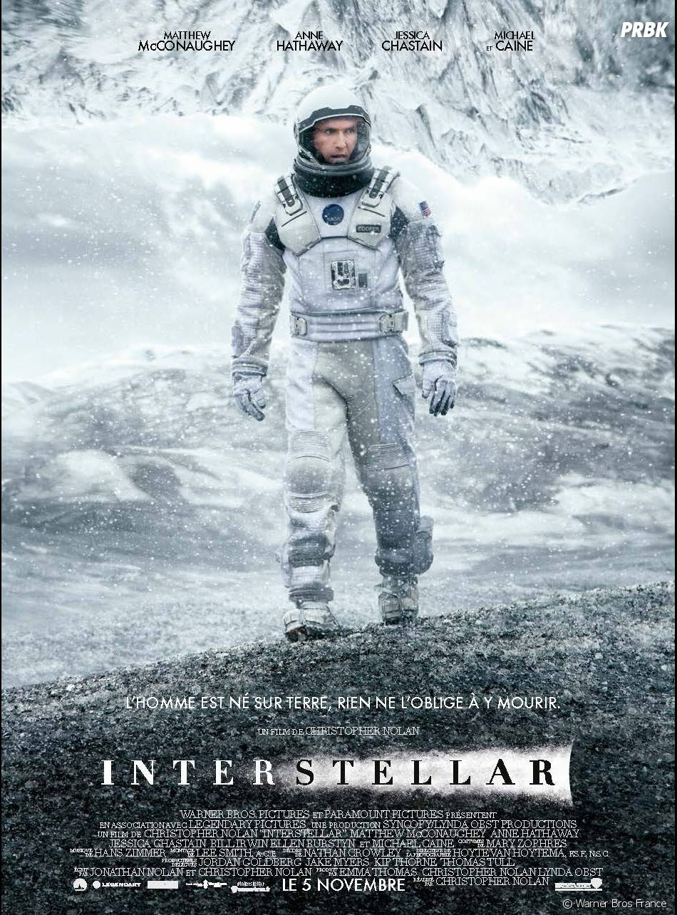 Interstellar : poster avec Matthew McConaughey