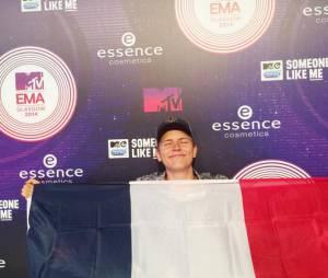 Jérôme Jarre, star des réseaux sociaux et invité français des MTV EMA 2014 à Glasgow, le 9 novembre 2014