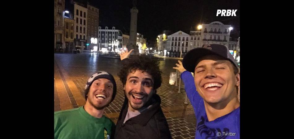 Jérôme Jarre, Maxime Musqua et David Laffargue pour un Tour de France Express, le 12 novembre 2014