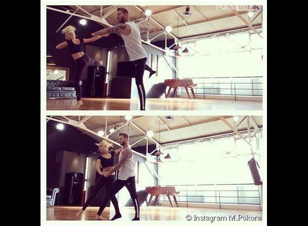 M. Pokora et Katrina Patchett : photo de leurs répétitions pour Danse avec les stars 5