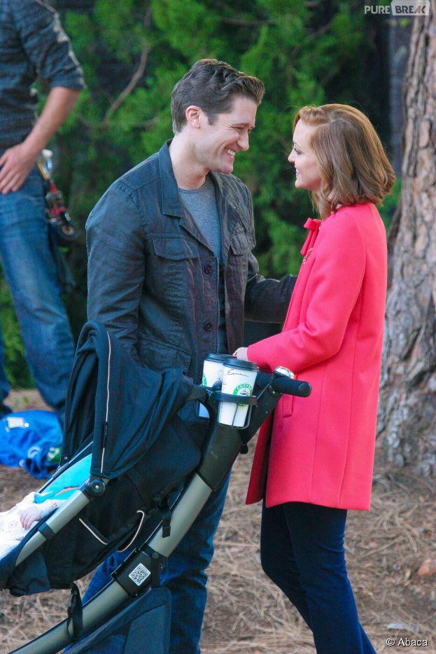 Glee saison 6 : Matthew Morrison et Jayma Mays sur le tournage
