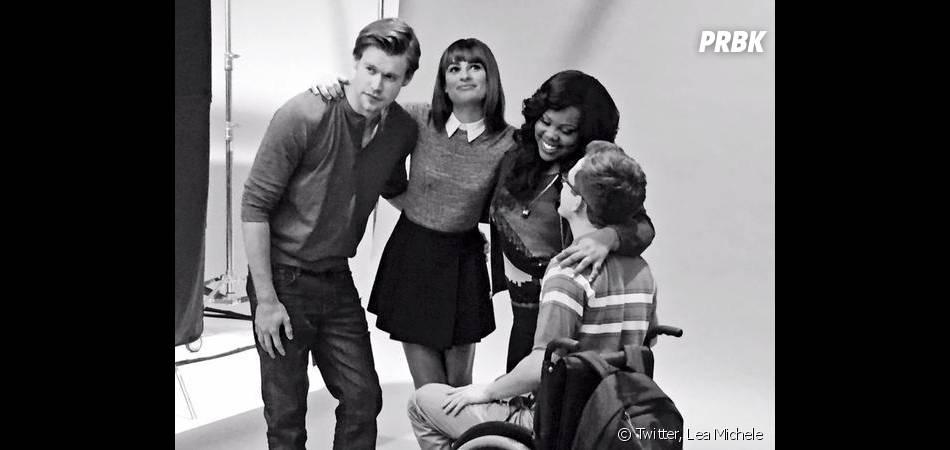 Glee saison 6 : dernier shooting pour Chord Overstreet, Lea Michele, Amber Riley et Kevin McHale