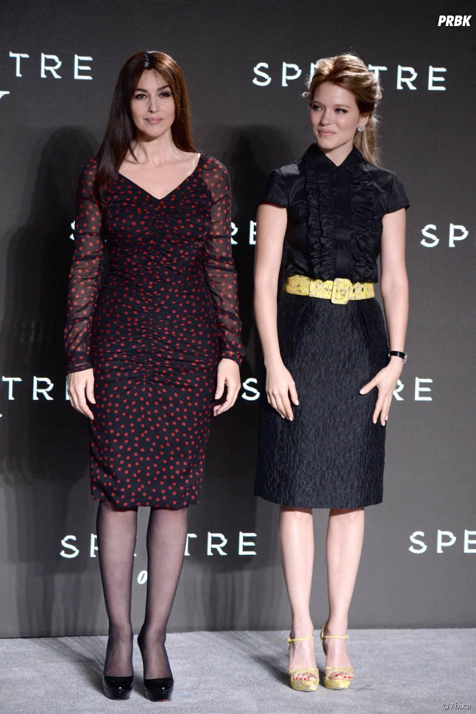 Monica Bellucci et Léa Seydoux à l'annonce de James Bond 24 le 4 décembre 2014