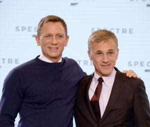 Daniel Craig et Christoph Waltz à l'annonce de James Bond 24 le 4 décembre 2014
