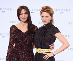 Léa Seydoux et Monica Bellucci à l'annonce de James Bond 24 le 4 décembre 2014