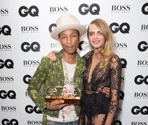 Pharrell Williams et Cara Delevingne aux GQ Men of the Year Awards au Royal Opera House de Londres le 2 septembre 2014
