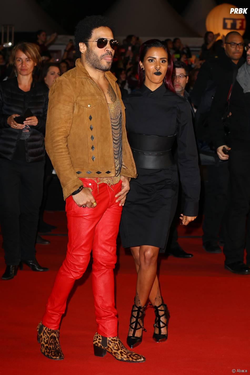 Shy'm et Lenny Kravitz : apparition remarquée sur le tapis rouge des NMA 2014, le 13 décembre à Cannes