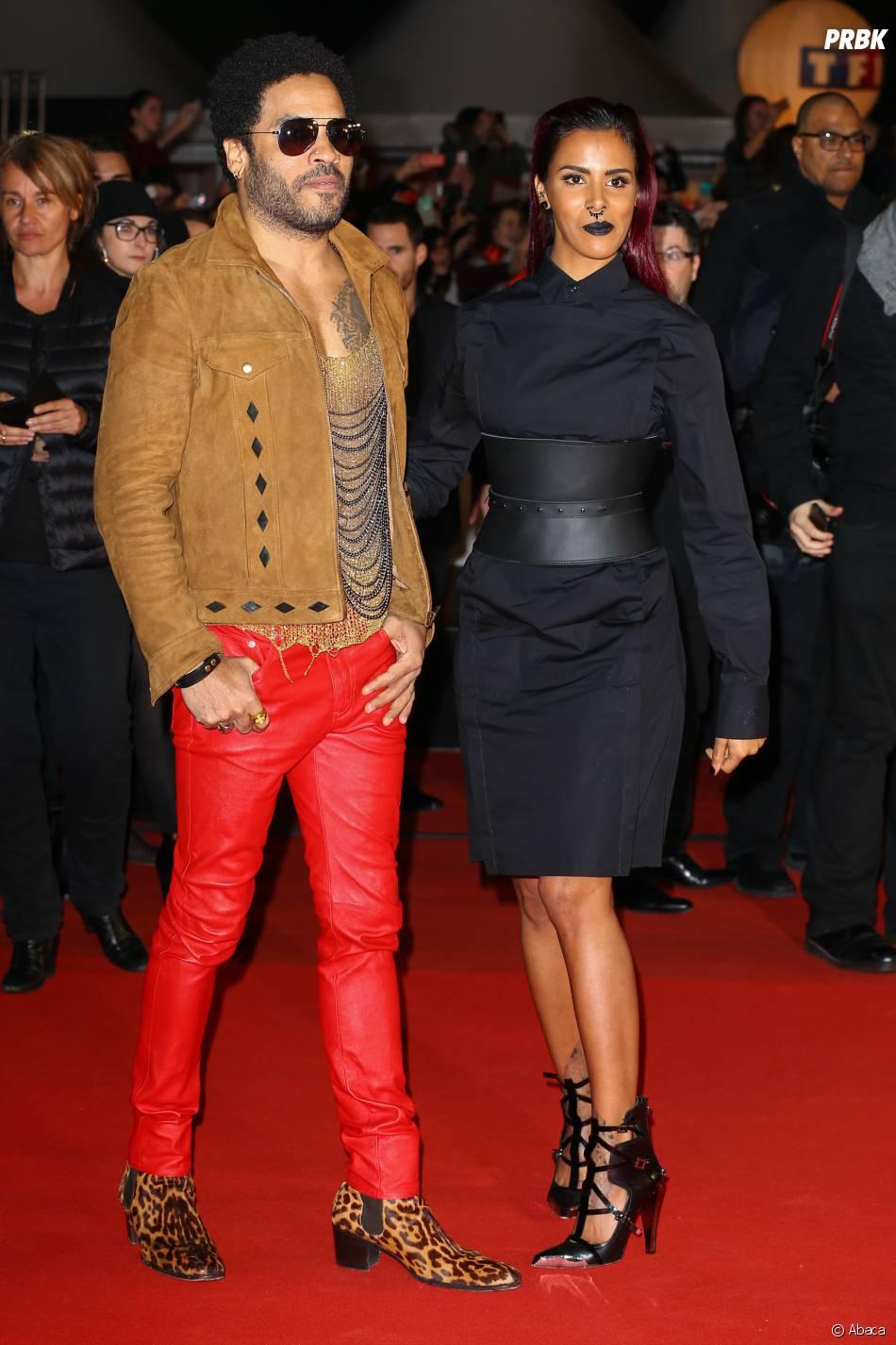 Shy'm et Lenny Kravitz aux NMA 2014, le 13 décembre à Cannes