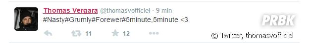 Thomas Vergara : un tweet destiné à Nabilla Benattia ?