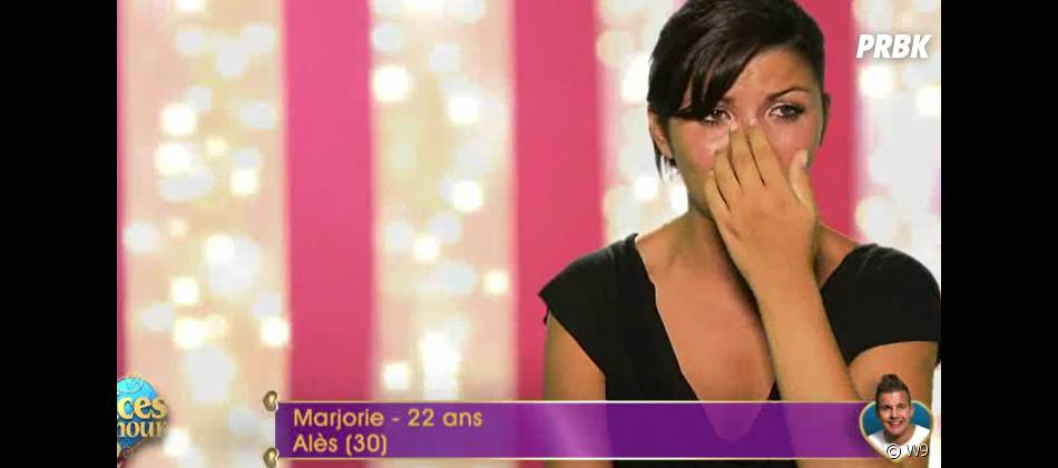 Les Princes de l'amour 2 : Marjorie en larmes à cause d'Amandine dans l'épisode 43 diffusé le 7 janvier 2015, sur W9