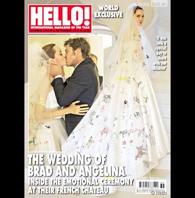 Angeline Jolie et Brad Pitt : photos de mariage dans le magazine Hello
