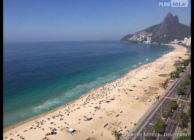Matthieu Delormeau dévoile la vue de sa chambre d'hôtel à Rio pour les Anges 7