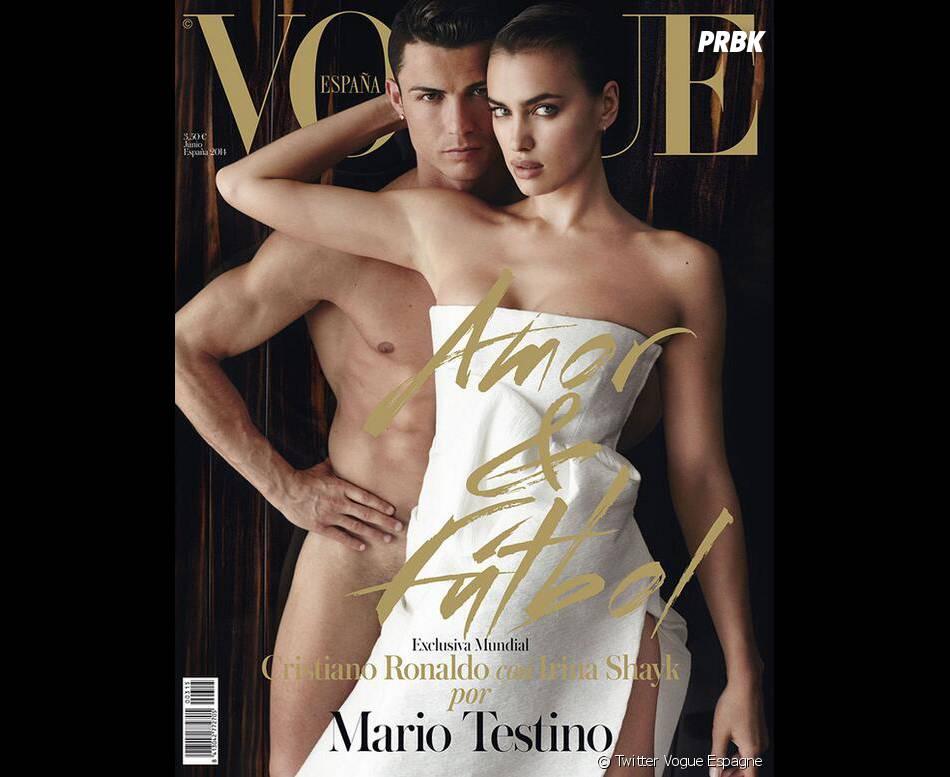 Cristiano Ronaldo nu et Irina Shayk en Une du magazine Vogue Espagne avant leur rupture