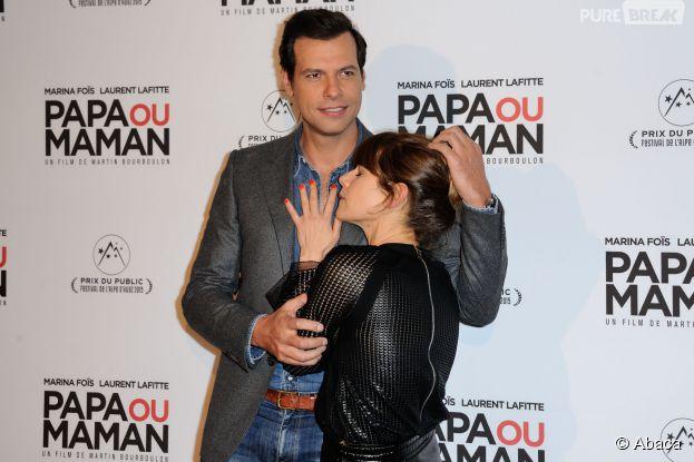 Marina Foïs et Laurent Lafitte délirants à l'avant-première de Papa ou Maman, le 26 janvier 2015 à Paris
