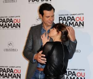 Marina Foïs et Laurent Lafitte s'éclatent à l'avant-première de Papa ou Maman, le 26 janvier 2015 à Paris