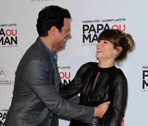 Marina Foïs et Laurent Lafitte : fou-rire à l'avant-première de Papa ou Maman, le 26 janvier 2015 à Paris