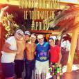 Les Princes de l'amour 2 : Florent Ré avec Raphaël, Bastien, Arthur et Charles le dernier jour de son tournage