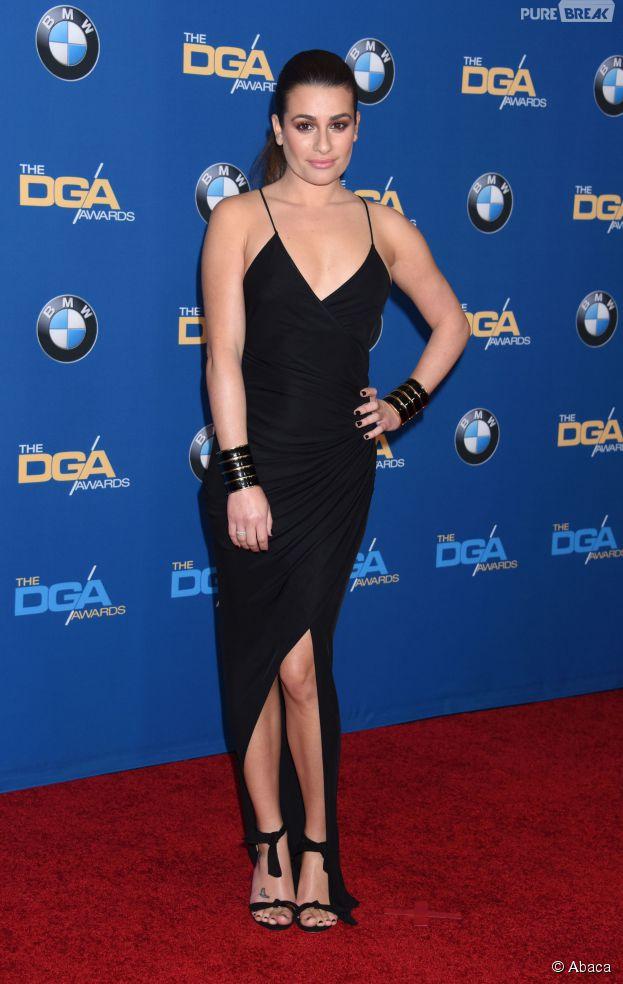 Lea Michele sexy en robe Balmain à la soirée des DGA Awards 2015