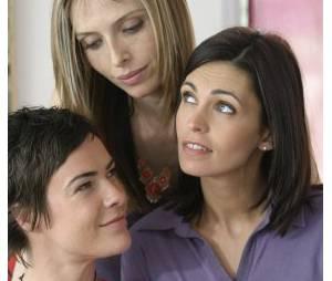 Tonya Kinzinger avec Adeline Blondieau et Bénédicte Delmas dans la série Sous le Soleil
