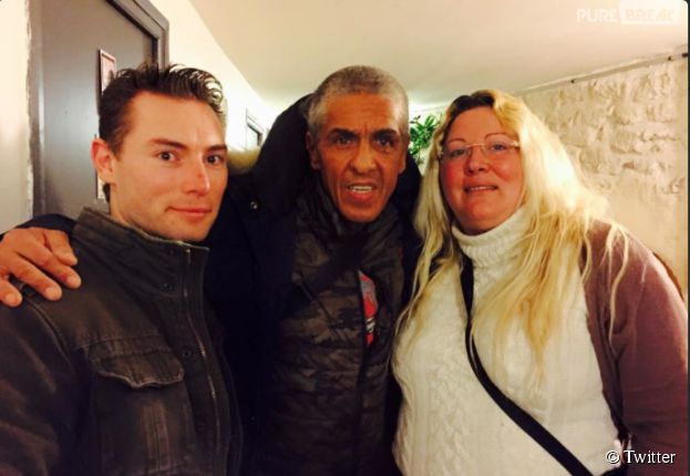 Loana, Frédéric et Samy Naceri ensemble sur une photo diffusée sur Twitter en février 2015