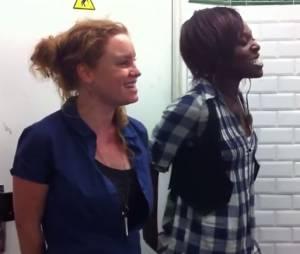 """Emji et son ami Mary May du collectf """"Rouge Rouge N3"""" dans le métro en 2012"""