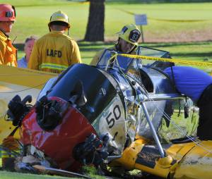 Harrison Ford miraculé après le crash d'un avion le 5 mars 2015