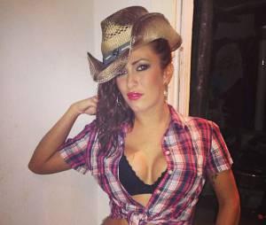 Gaëlle Petit sexy en cow-girl sur Instagram