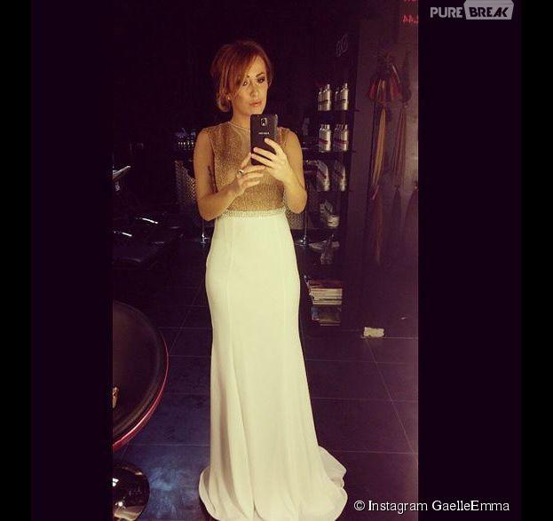 Gaëlle Emma (Les Ch'tis) en robe classe sur Instagram
