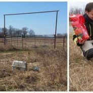 Révoltant et émouvant : un motard sauve une chienne abandonnée, enfermée dans une cage