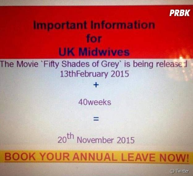 Fifty Shades of Grey : un baby boom à prévoir dans les maternités britanniques