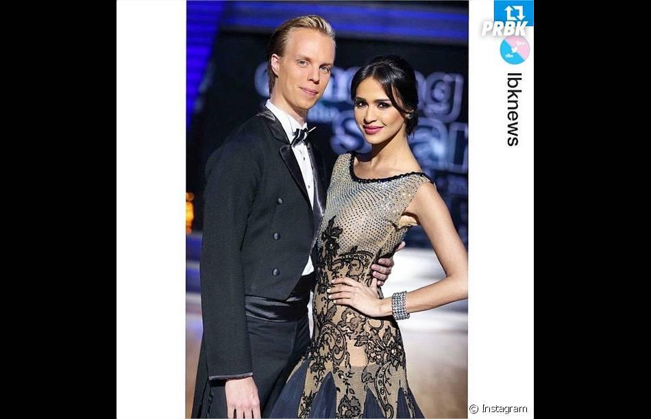 Leila Ben Khalifa et son danseur Aslak Amtrup, 3e au classement de Danse avec les stars Liban le 29 mars 2015