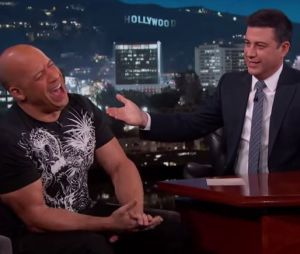 Vin Diesel chez Jimmy Kimmel, le 30 mars 2015