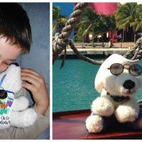 Un enfant autiste fait faire le tour du monde à son ours en peluche pour sensibiliser à sa maladie