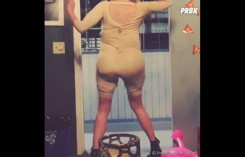 Ashley Benson : danse sexy dans son costume de femme obèse de la série Pretty Little Liars pour l'anniversaire de Shay Mitchell