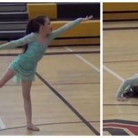 Emouvant : grâce à la mobilisation de sa ville, cette petite fille handicapée danse à nouveau
