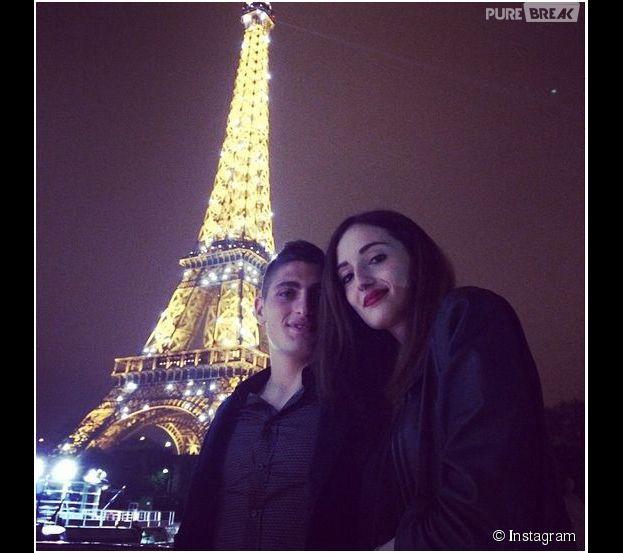 Marco Verratti et sa copine Laura Zazzara : photo de couple devant la Tour Eiffel