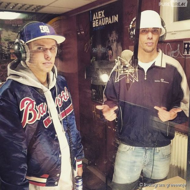 """Orelsan et Gringe en studio sur le tournage de leur premier film """"Comment c'est loin"""""""