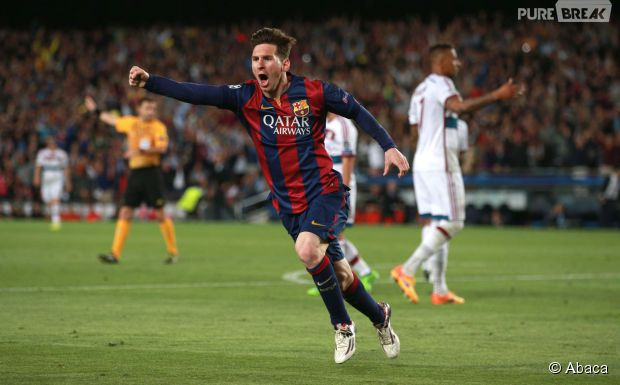 Lionel Messi pendant FC Barcelone vs Bayern Munich, le 6 mai 2015 au Camp Nou