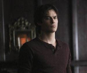 The Vampire Diaries saison 6, épisode 22 : Damon (Ian Somerhalder) sur une photo