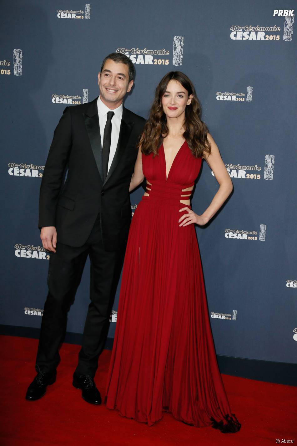 Charlotte Le Bon et Ali Baddou en couple à la cérémonie des César 2015