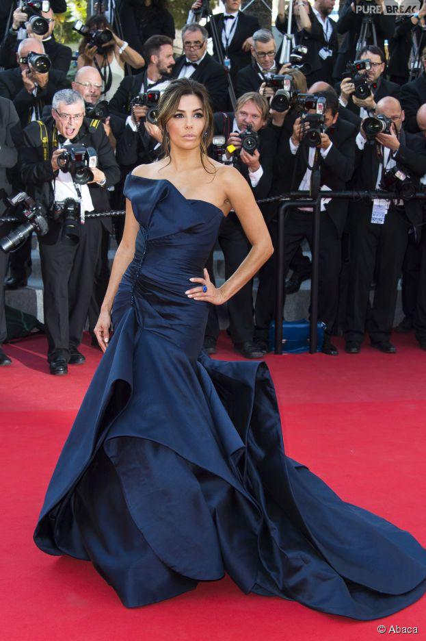Eva Longoria glamour sur le tapis rouge du festival de Cannes 2015