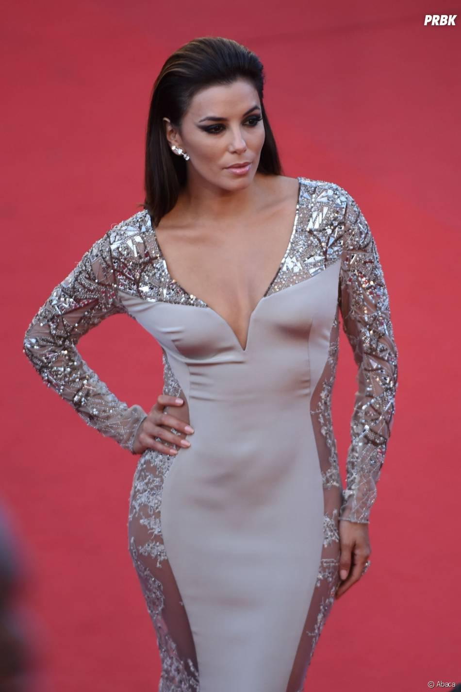 Eva Longoria sexy et transparente sur le tapis rouge du festival de Cannes 2015