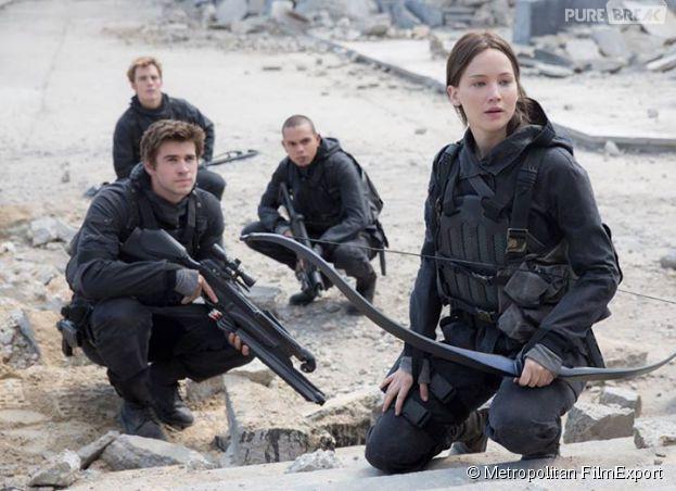 Hunger Games 4 : première photo avec Katniss, Gale, Finnick et Messalla
