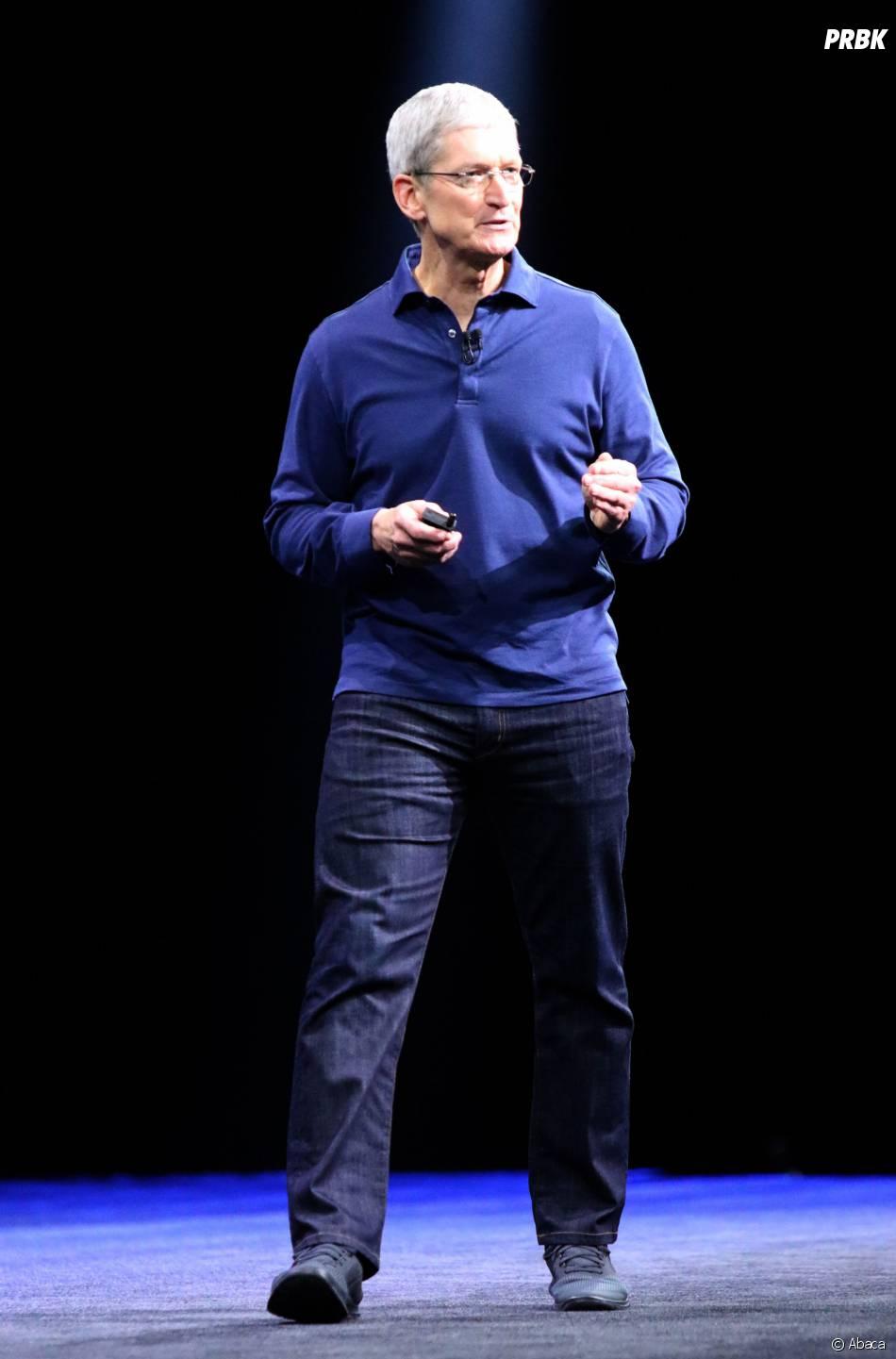 Tim Cook lors de la keynote d'Apple à la WWDC, le 8 juin 2015