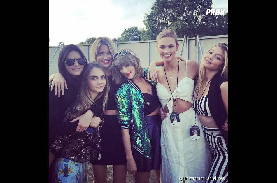Taylor Swift : Cara Delevingne, Kendall Jenner... des invitées très VIP à son concert de Londres, le 27 juin 2015