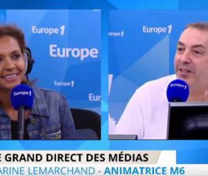 Karine Le Marchand s'énerve contre la presse people, le 29 juin 2015 sur Europe 1