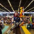 Un cosplayer en Jak & Dexter au salon Japan Expo, le 5 juillet 2015