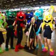 Des cosplayers Happy Tree Friends au salon Japan Expo, le 5 juillet 2015