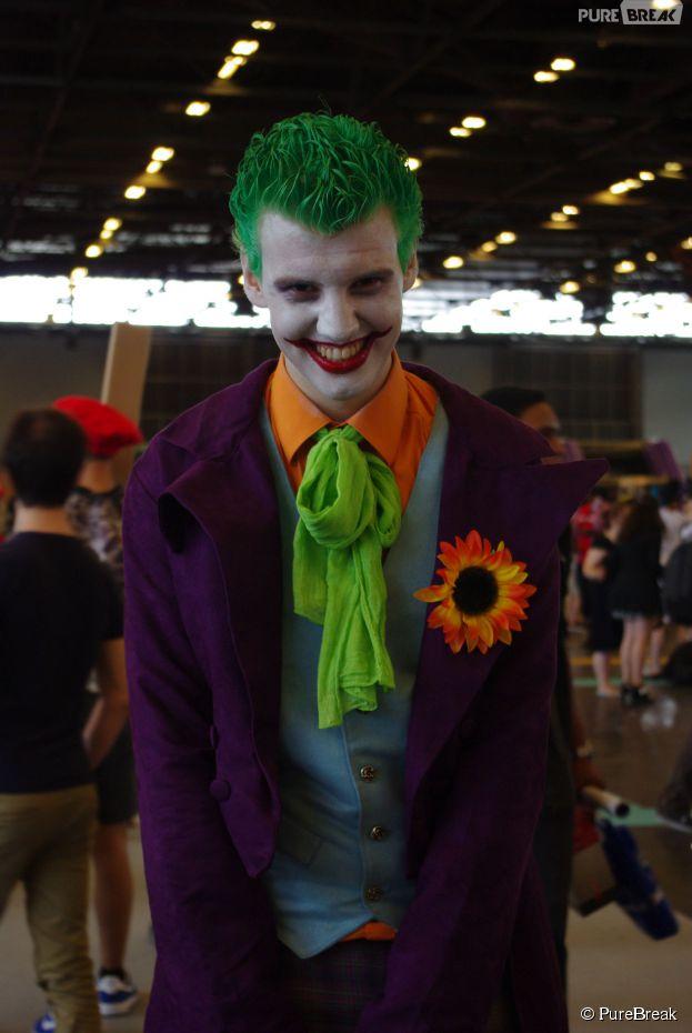 Un cosplayer du Joker au salon Japan Expo, le 5 juillet 2015