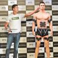 Cristiano Ronaldo et son double créé avec une imprimante 3D à Tokyo, le 8 juillet 2015